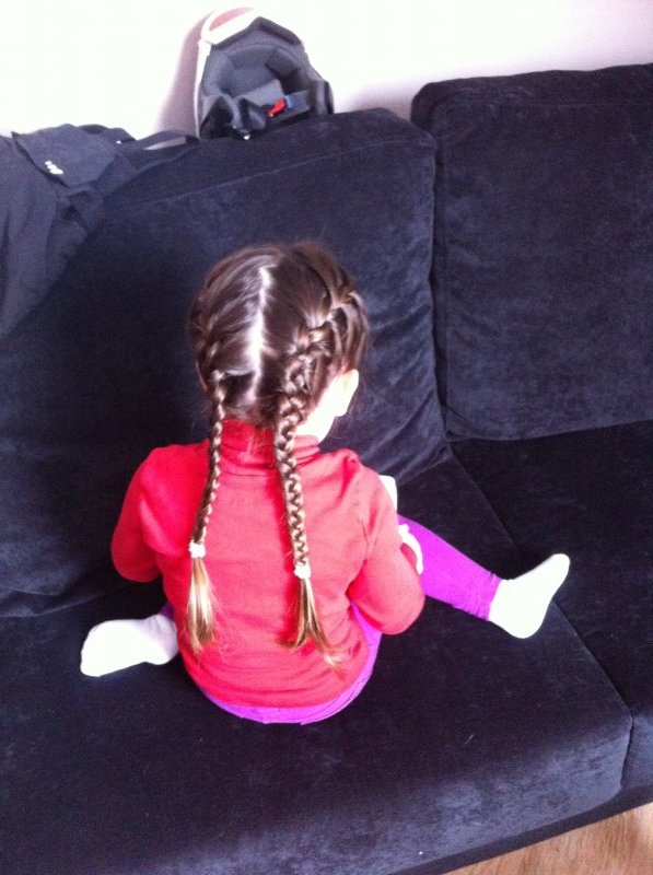 Braids before ski school.