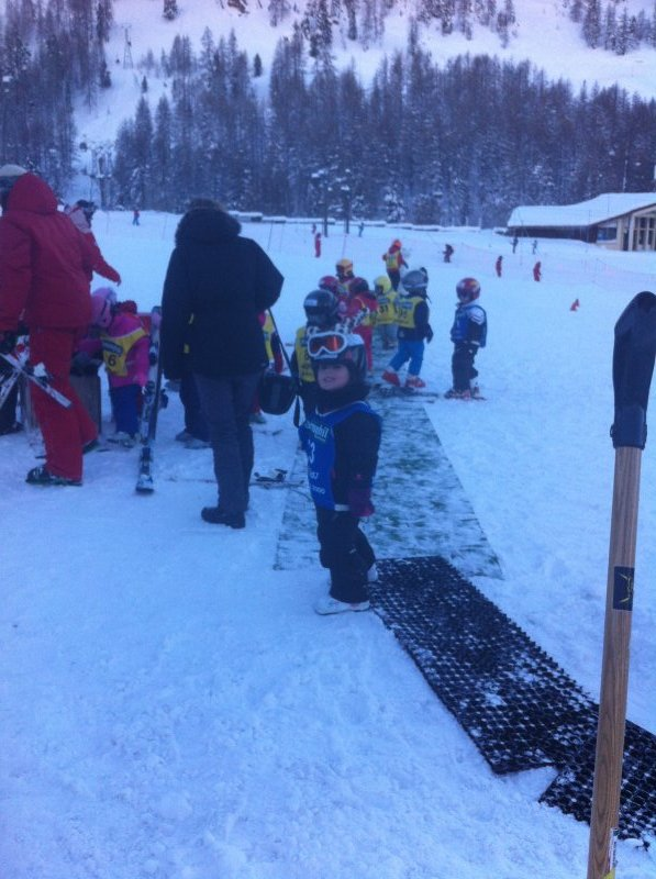 G just finishing ski school.
