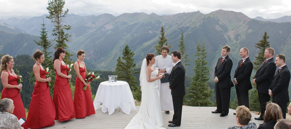 Our Wedding - The Wedding Deck on top of Aspen Mountain