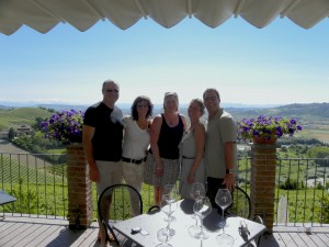 Great friends & great wine in Piedmoint Italy.