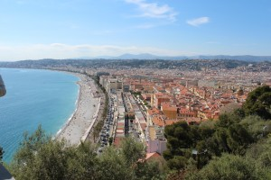 Nice, France on the Cote d'Azur.